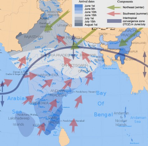 Map of India's Monsoon Season