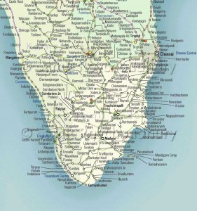 South India Rail Route