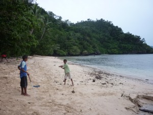 Golf on Qamea beach, Fiji