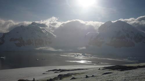 White continent Antarctica