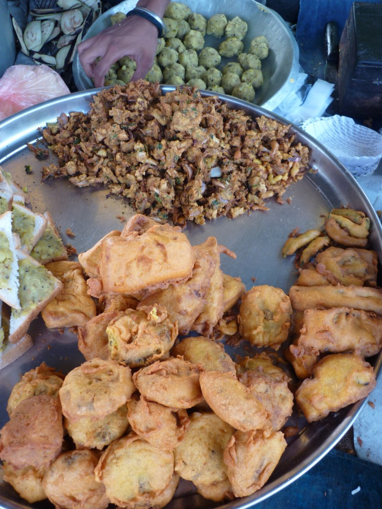 Indian Puran Poli fried street food