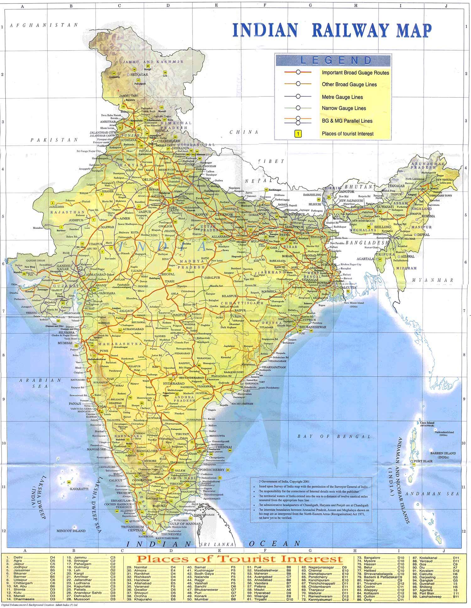 India maps west india rail map gumiabroncs Image collections