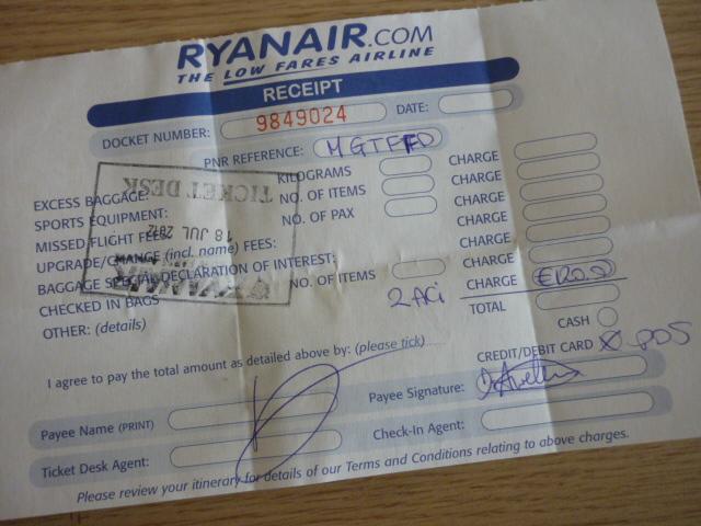 ryanair ticket price