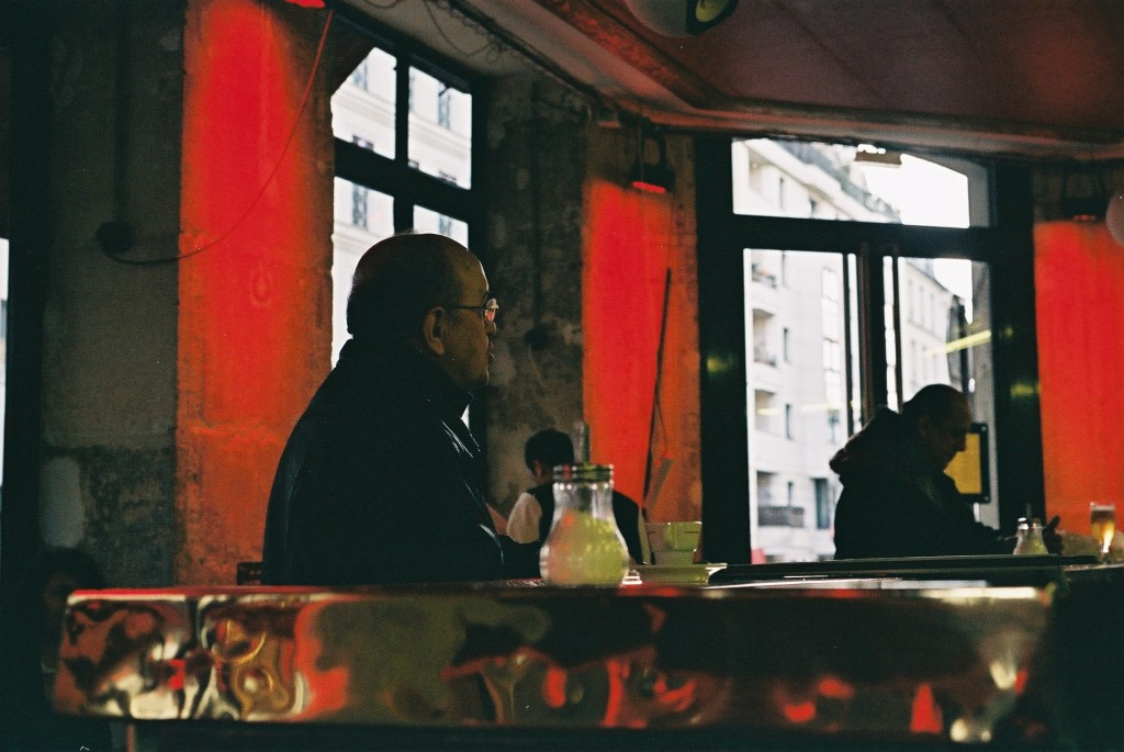 Parisiene man drinking in restaurant 1024x685 Photo from europe  in Culinary Paris and the under discovered Gems